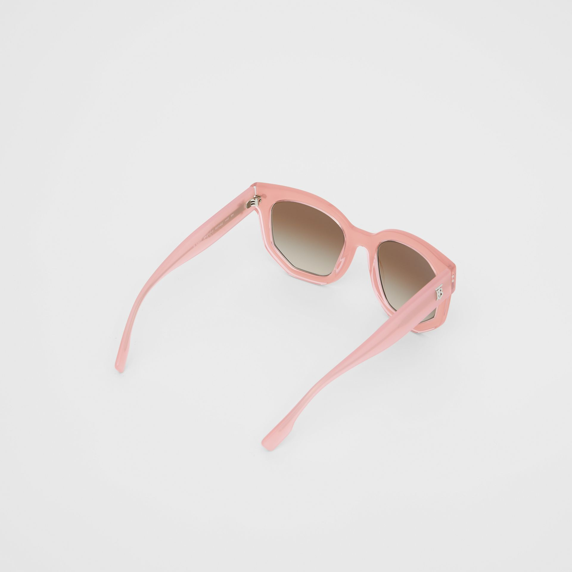 Geometric Frame Sunglasses in Pink - Women | Burberry Australia - gallery image 4