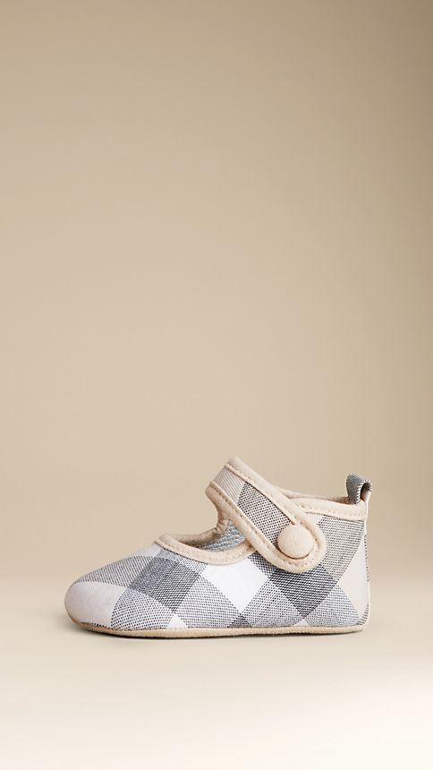 Pale classic check Check Cotton Booties - Image 2