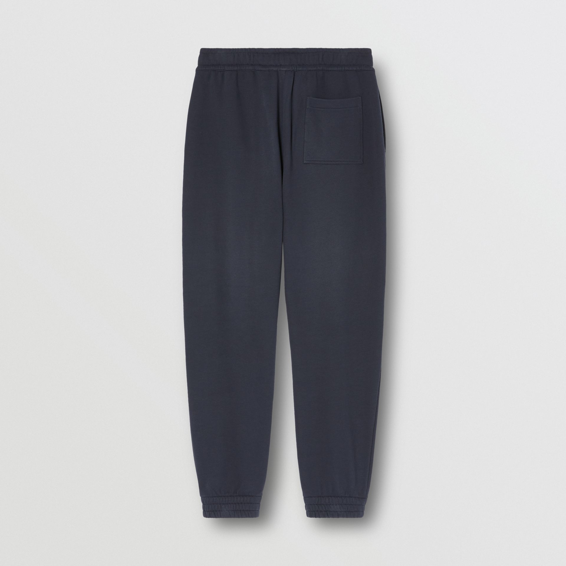 Logo Graphic Cotton Trackpants in Navy - Men | Burberry - gallery image 6
