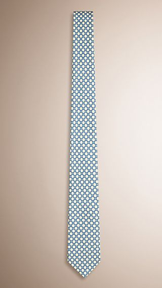 Slim Cut Polka Dot Silk Tie