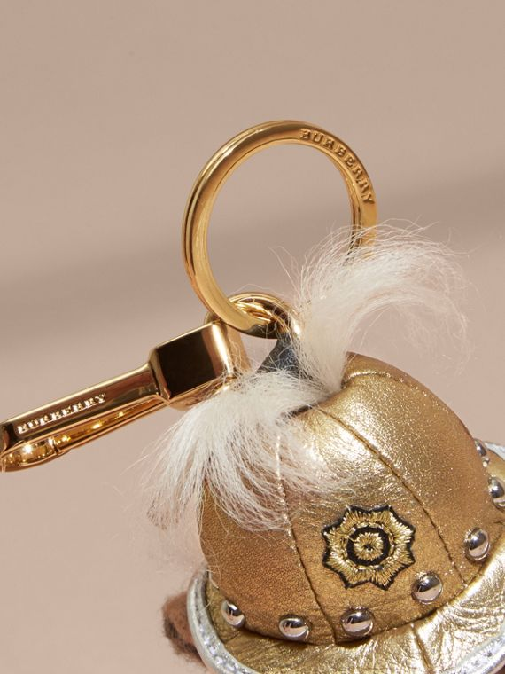 The Regimental Thomas Bear Charm in Camel | Burberry - cell image 3