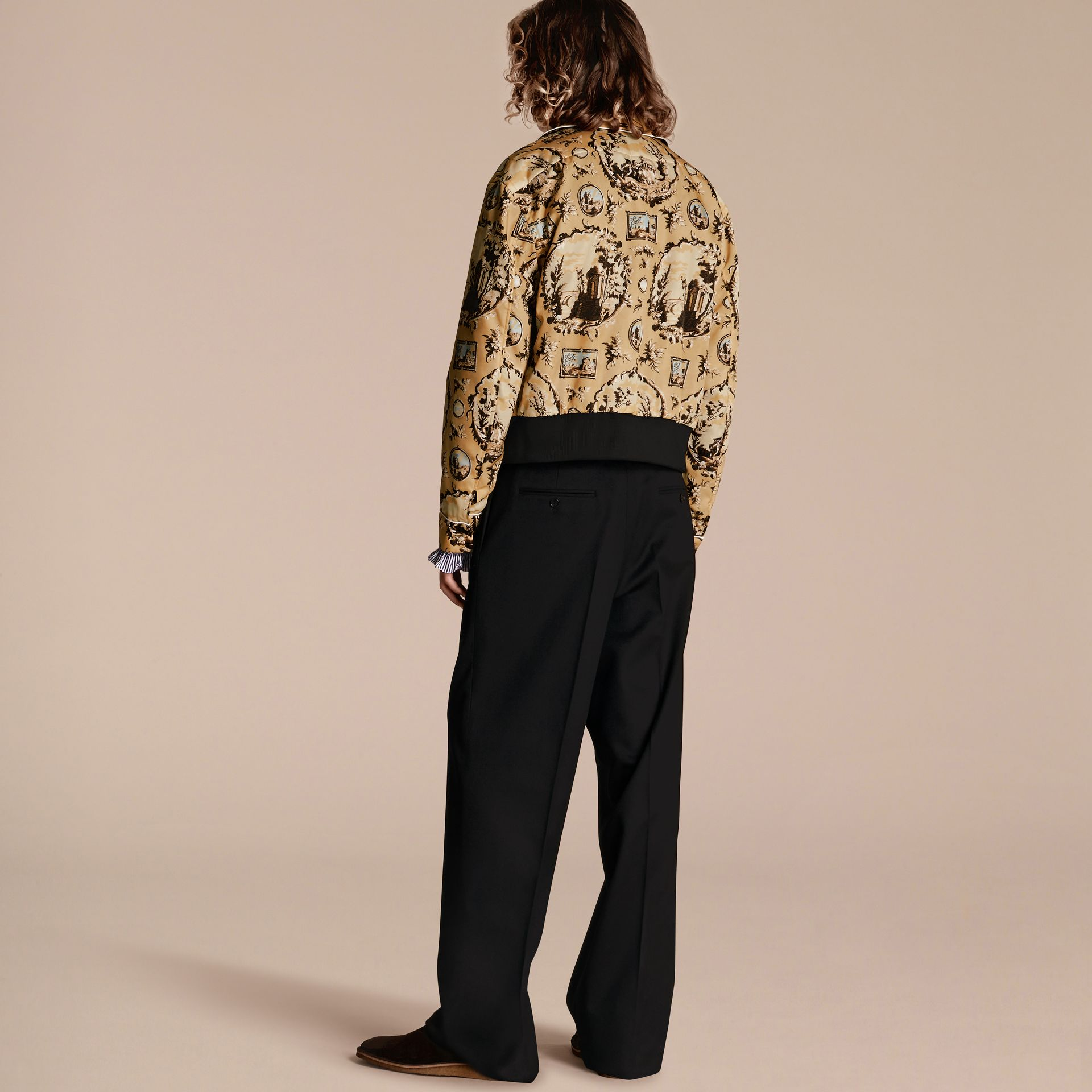 Yellow barley Wallpaper Print Bomber Jacket - gallery image 3