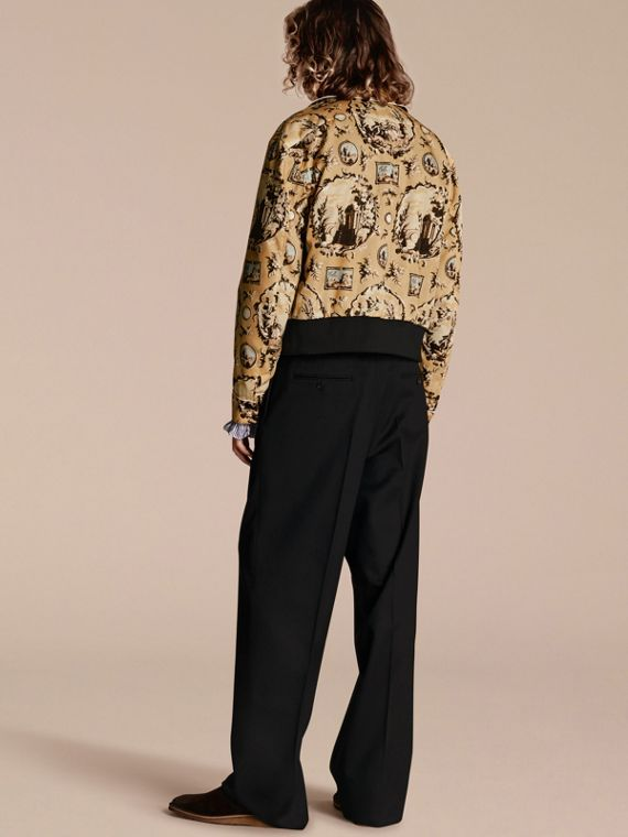 Yellow barley Wallpaper Print Bomber Jacket - cell image 2