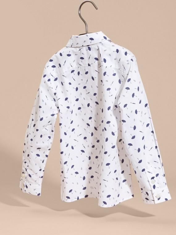 Umbrella Motif Cotton Button-down Collar Shirt - cell image 3