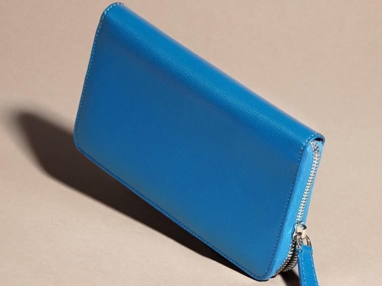 Bleu minéral Portefeuille zippé en cuir London - cell image 4