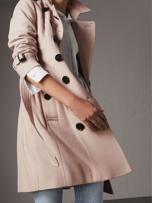 Sandringham Fit Cashmere Trench Coat in Pale Nude - Women | Burberry - cell image 1