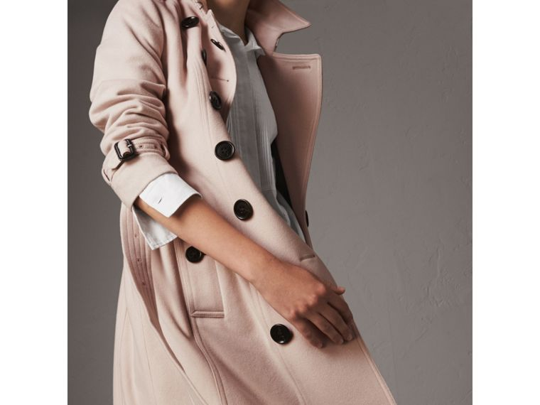 Sandringham Fit Cashmere Trench Coat in Pale Nude - Women | Burberry United Kingdom - cell image 1