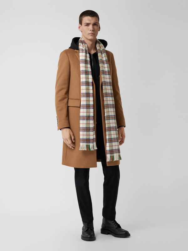 Bufanda de checks en lana de merino (Blanco Natural) | Burberry - cell image 3