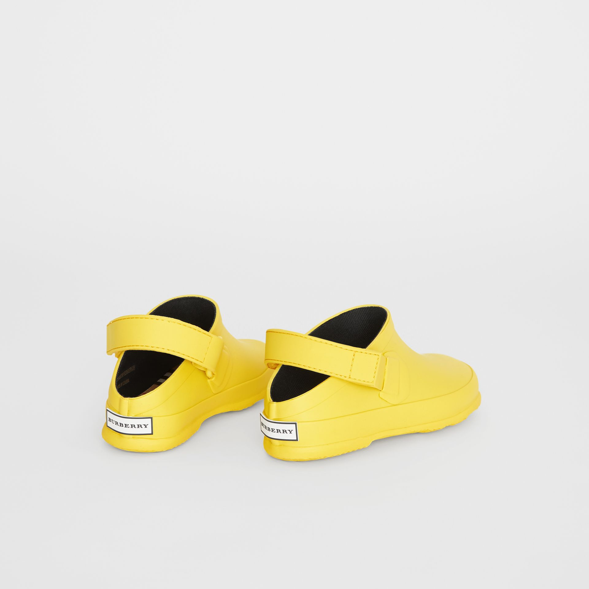 Check Detail Rubber Sandals in Citron - Children | Burberry United Kingdom - gallery image 2
