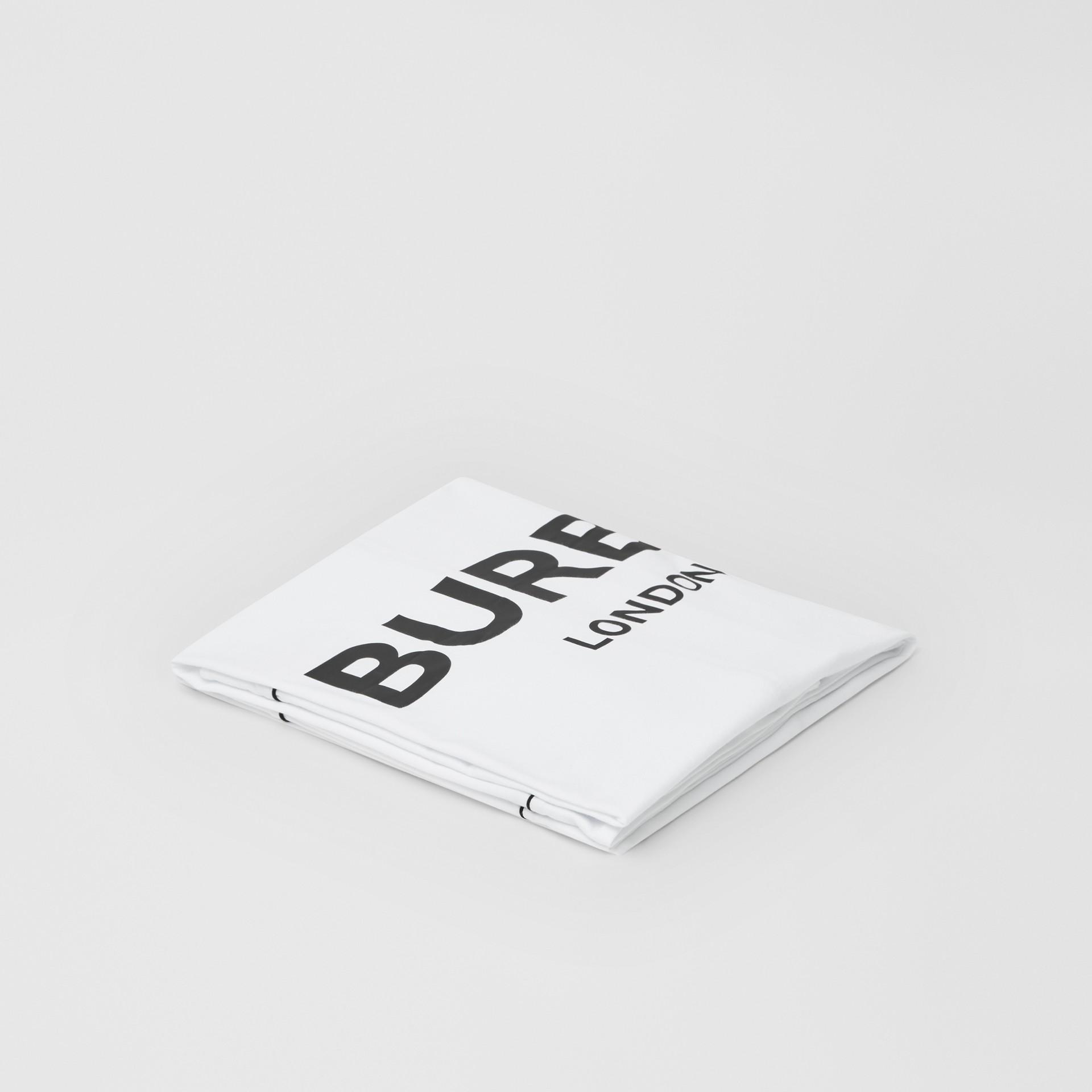 Logo Print Cotton Jersey Baby Blanket in White - Children | Burberry United Kingdom - gallery image 0