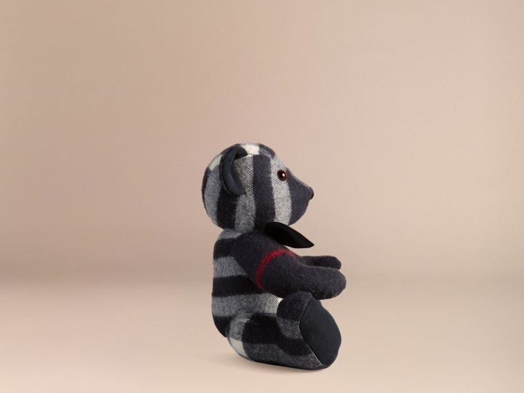 Thomas Bear in Check Cashmere in Navy - cell image 2