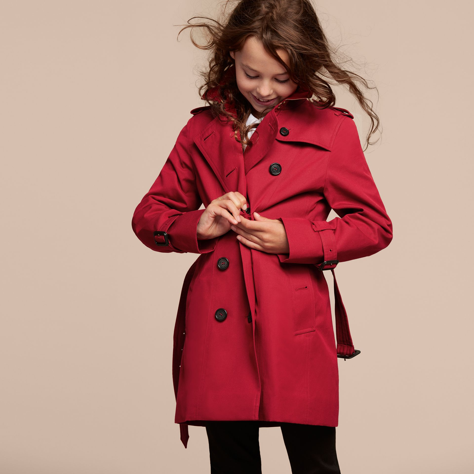 The Sandringham – Heritage Trench Coat in Parade Red - gallery image 3