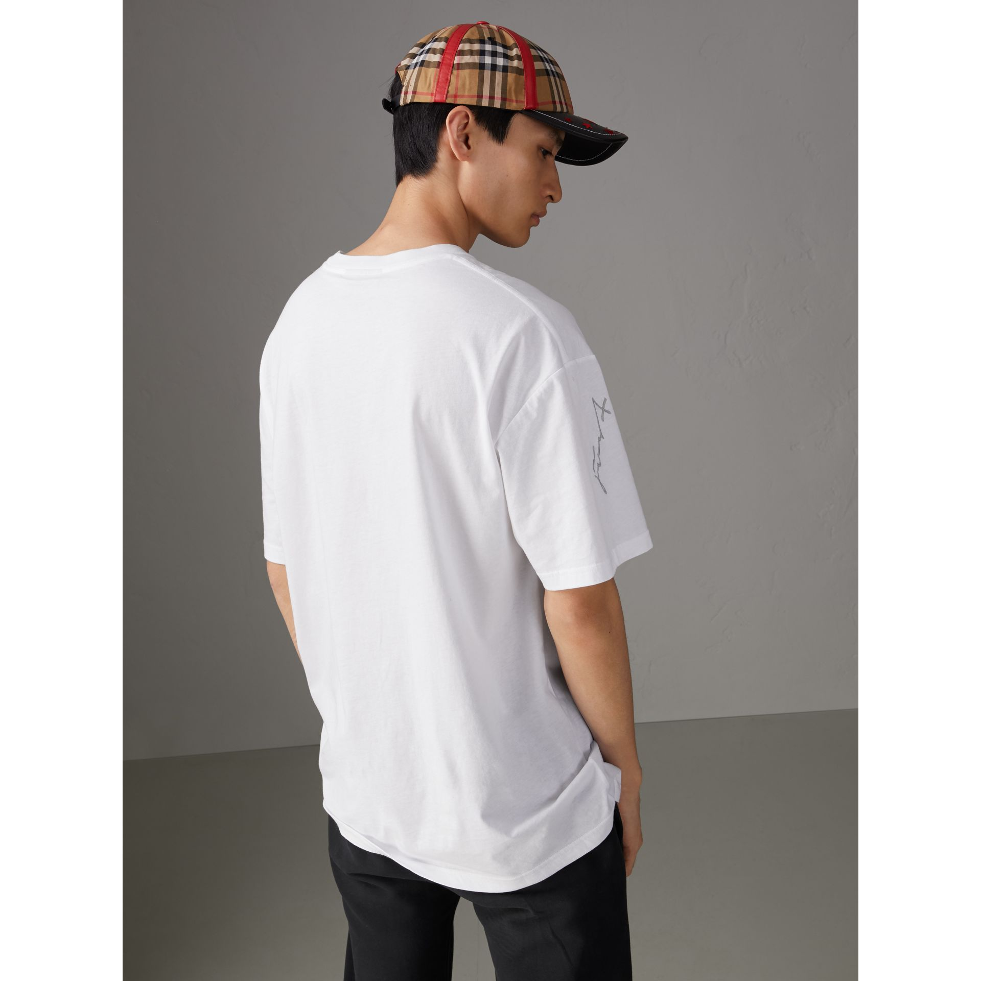 Burberry x Kris Wu Printed Cotton T-shirt in White - Men | Burberry United States - gallery image 2