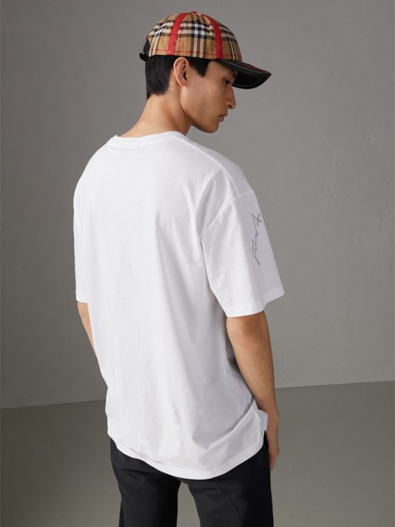 Burberry x Kris Wu Printed Cotton T-shirt in White - Men | Burberry United States - cell image 2