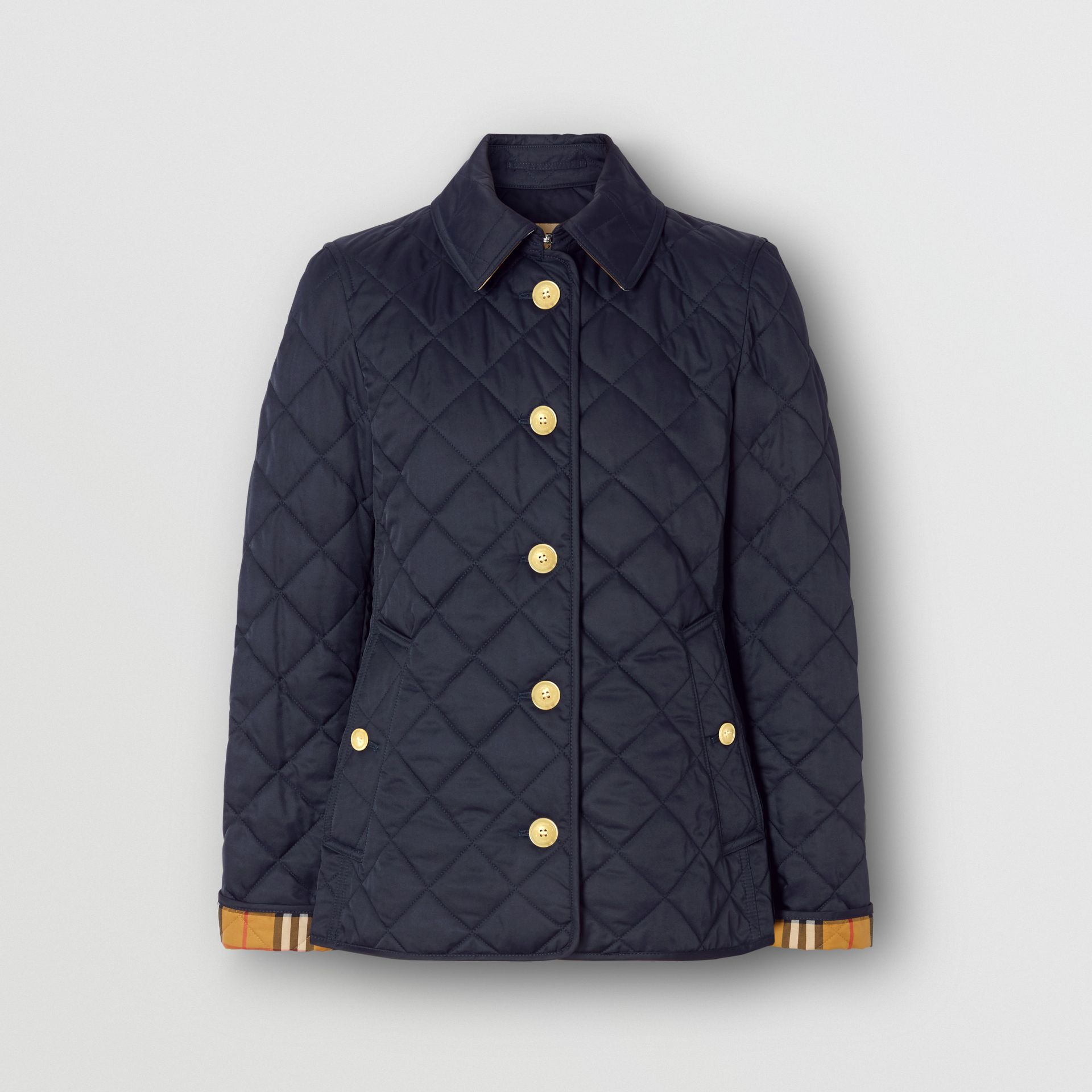 Diamond Quilted Jacket in Navy - Women | Burberry Canada - gallery image 3