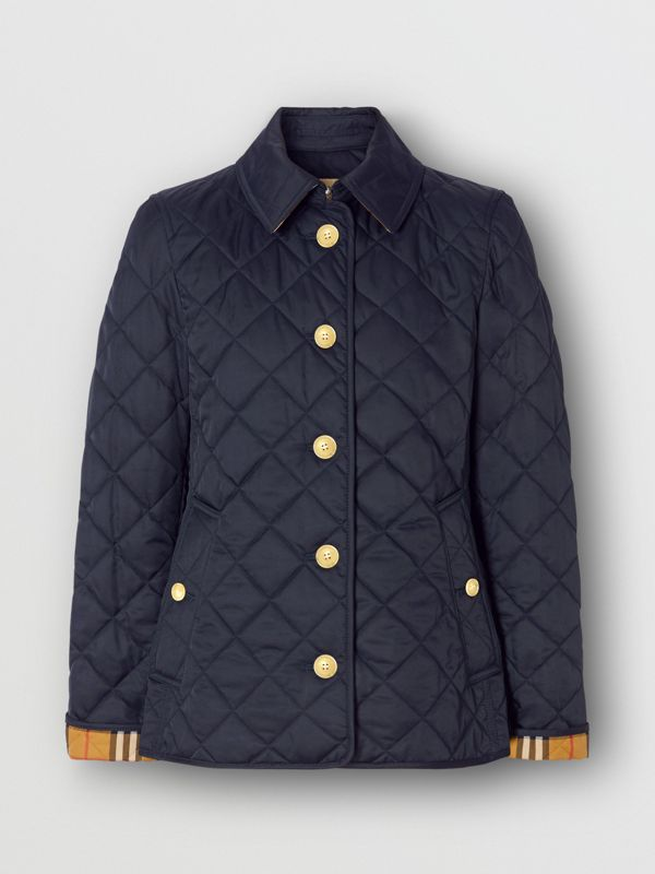 Diamond Quilted Jacket in Navy - Women | Burberry Canada - cell image 3