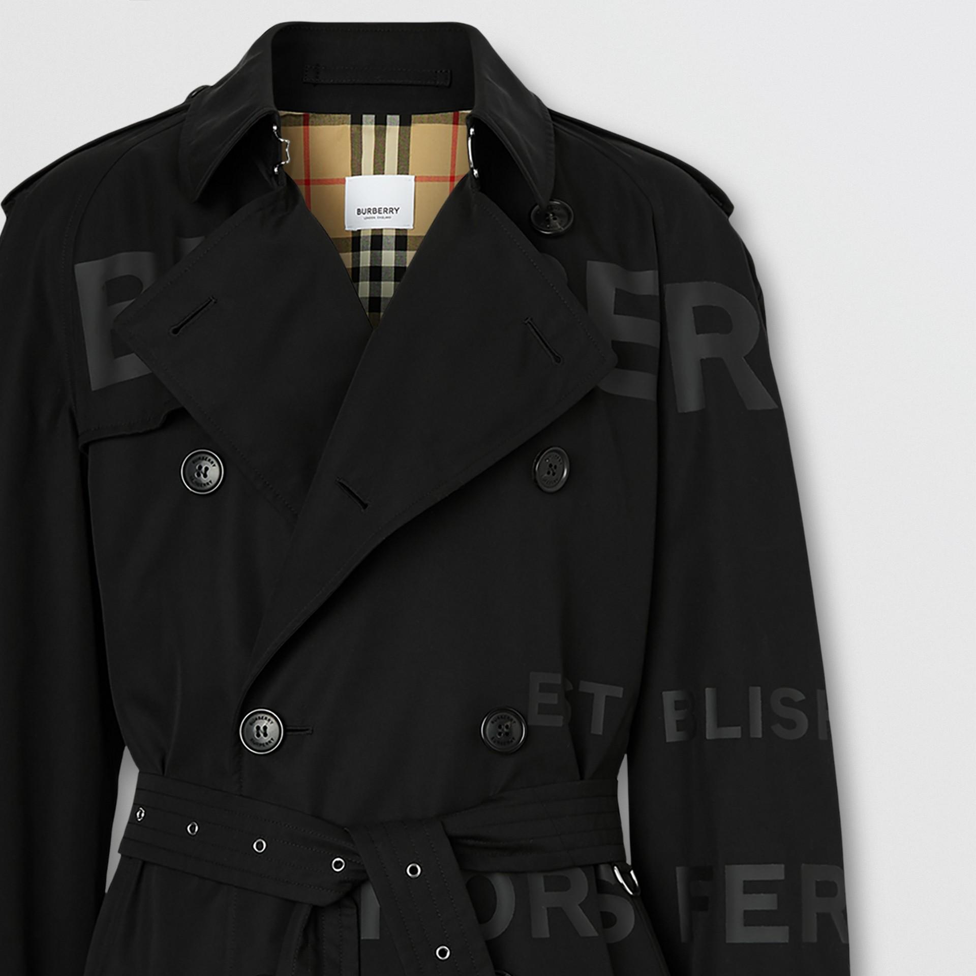 ホースフェリープリント コットンギャバジン トレンチコート (ブラック) - メンズ | バーバリー - ギャラリーイメージ 7