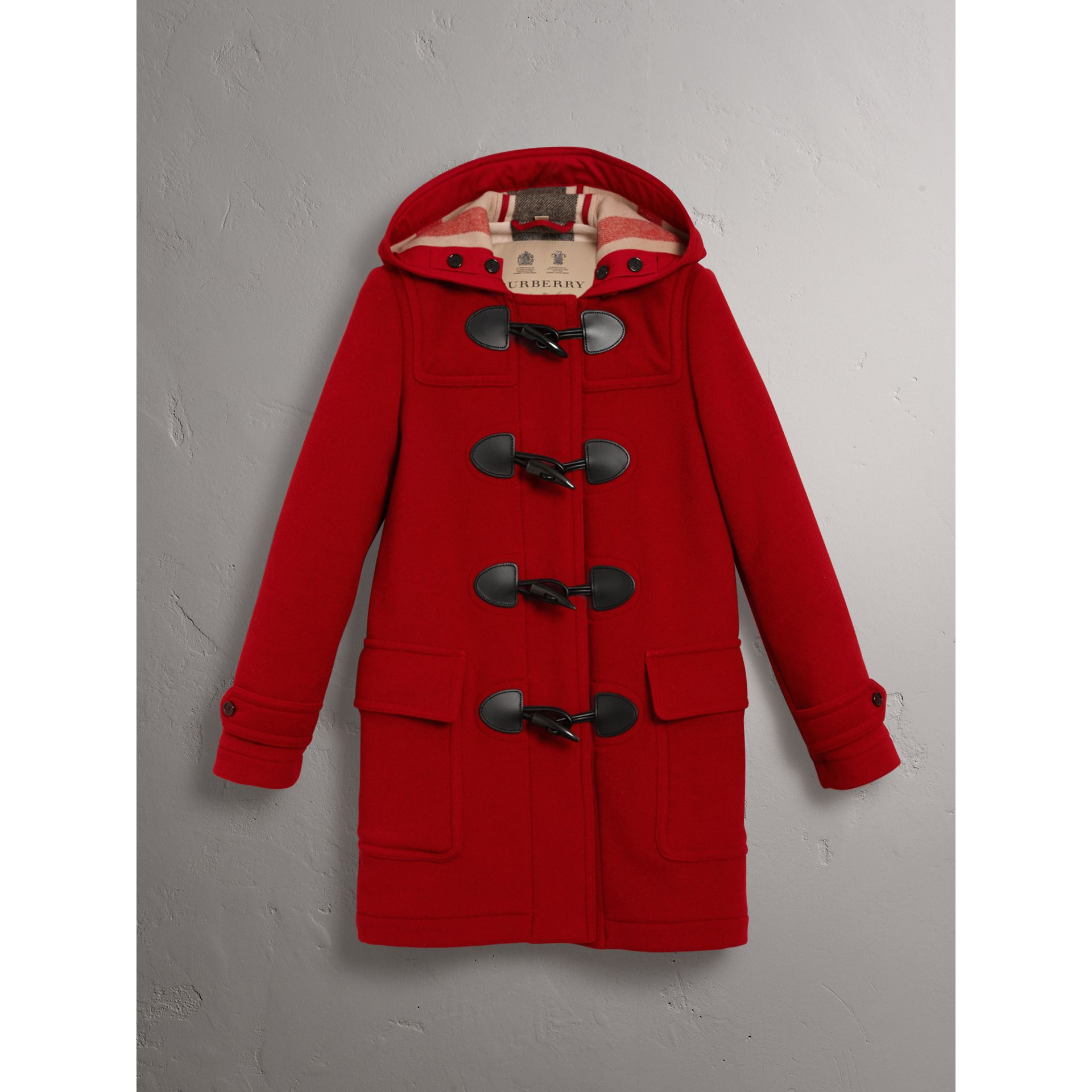 The Mersey Duffle Coat in Parade Red - Women | Burberry United Kingdom - gallery image 3