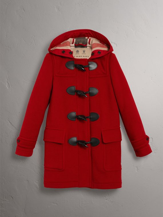 The Mersey Duffle Coat in Parade Red - Women | Burberry - cell image 3
