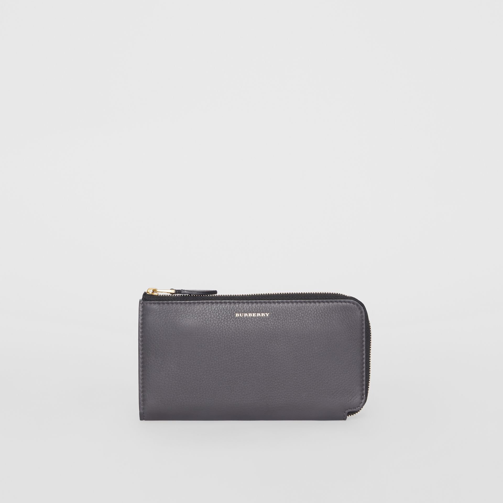 Two-tone Leather Ziparound Wallet and Coin Case in Charcoal Grey - Women | Burberry - gallery image 2