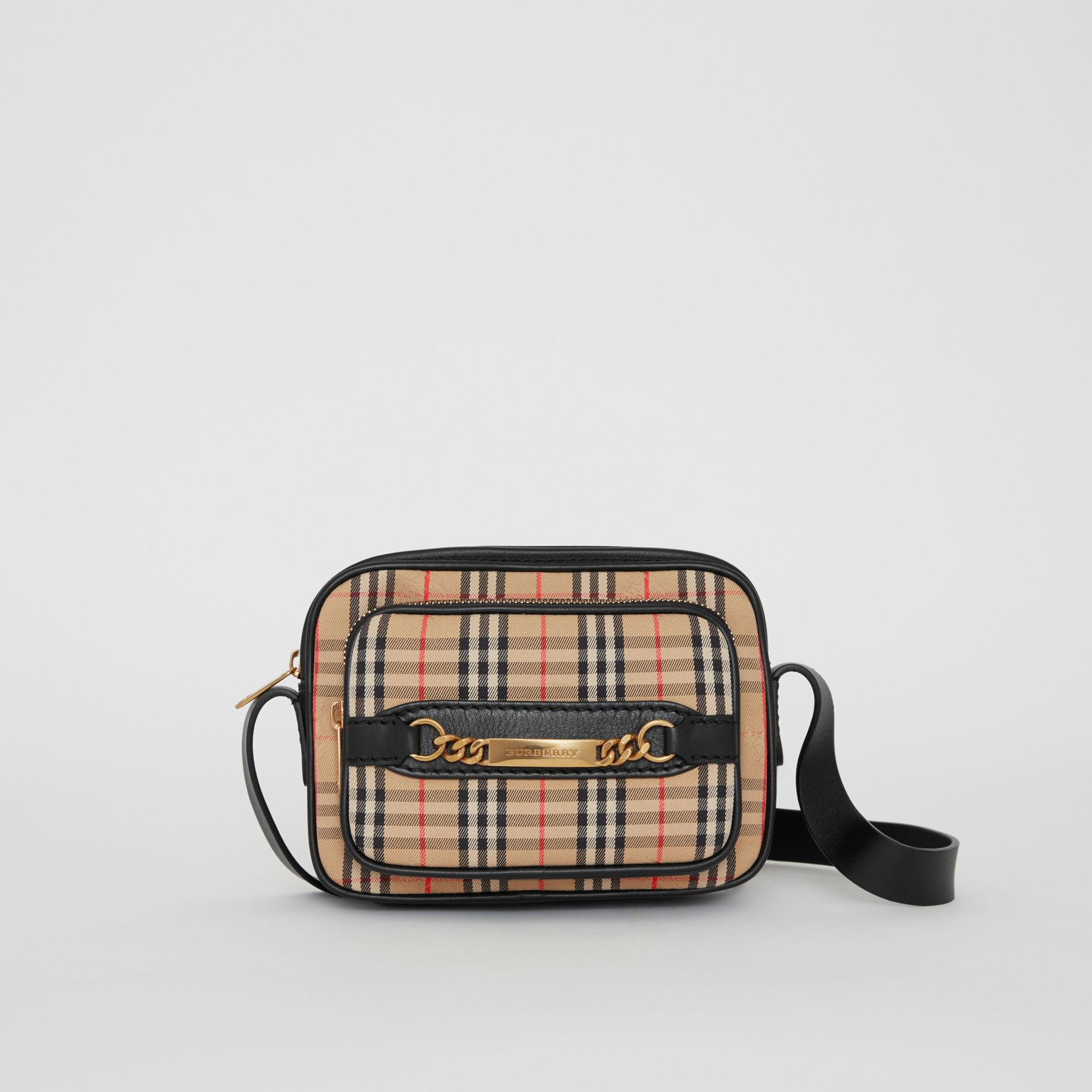 The 1983 Check Link Camera Bag in Black - Men | Burberry - gallery image 0