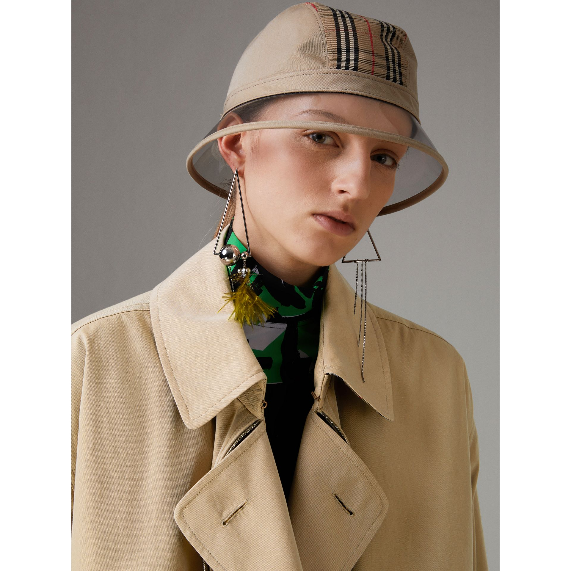 1983 Check Bucket Hat in Dark Sand - Women | Burberry - gallery image 2