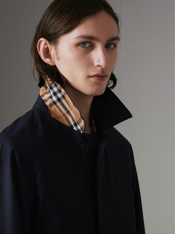 The Camden Car Coat in Blue Carbon - Men | Burberry - cell image 1
