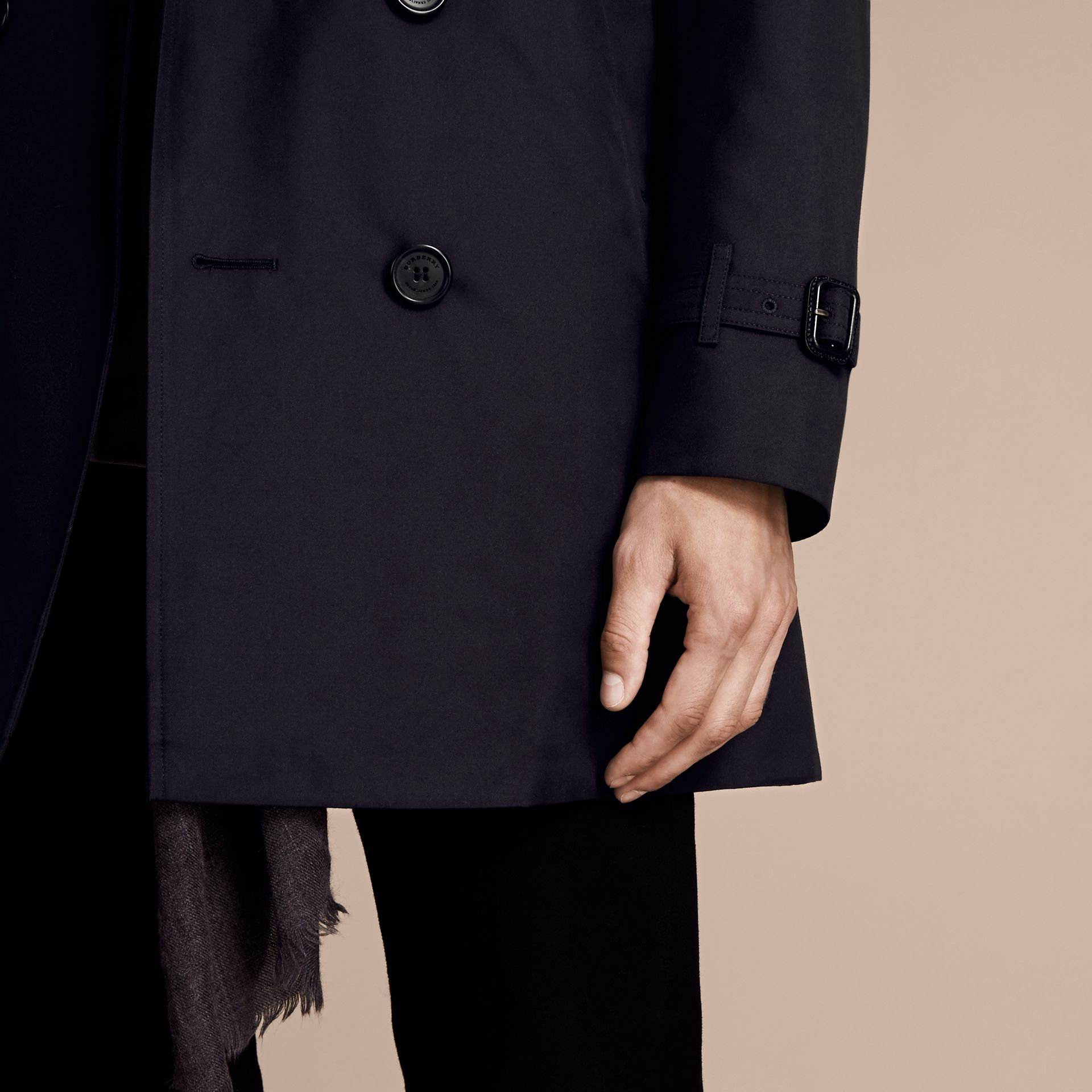 Navy The Sandringham - Trench coat Heritage medio Navy - immagine della galleria 5