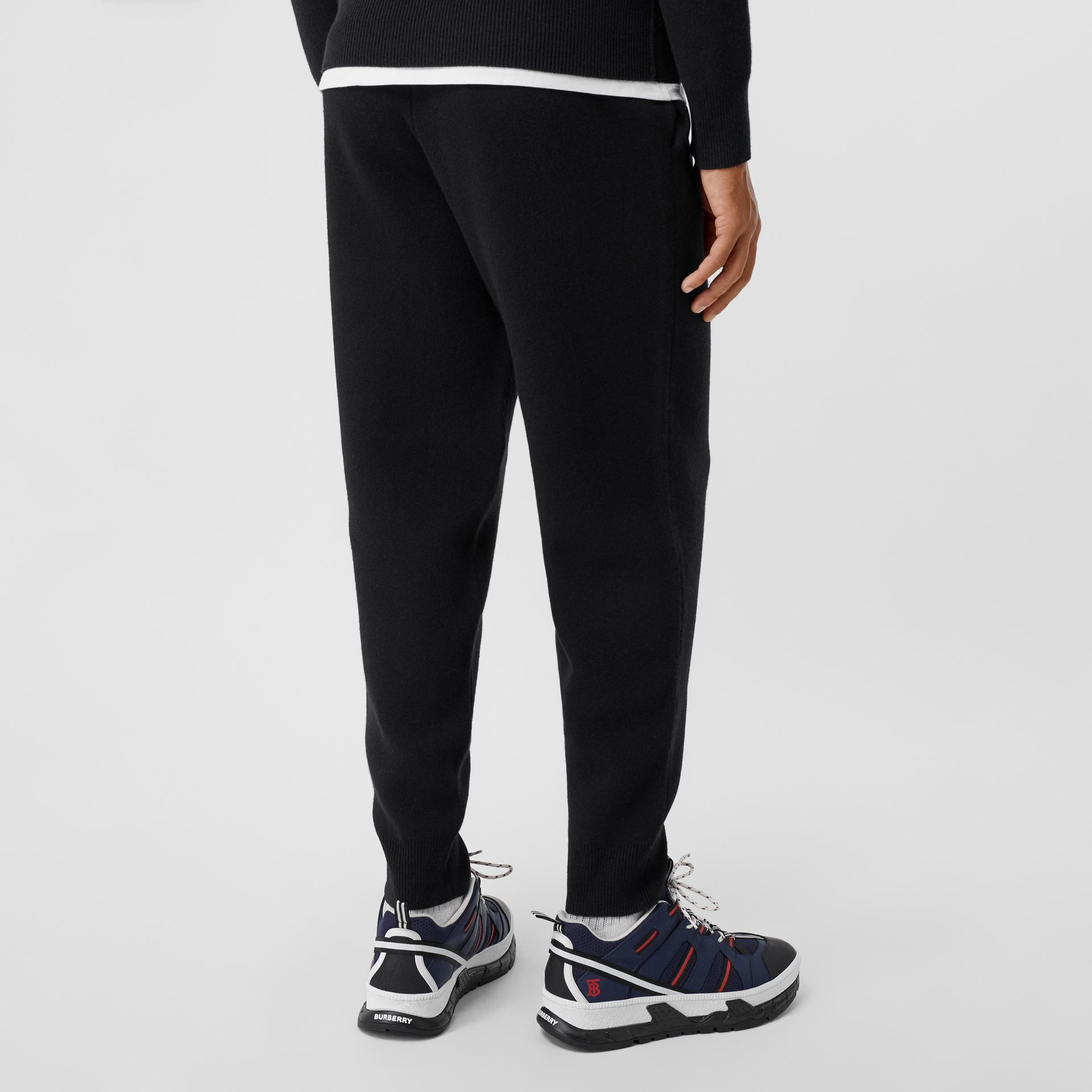 Monogram Motif Cashmere Blend Trackpants in Black - Men | Burberry - gallery image 2