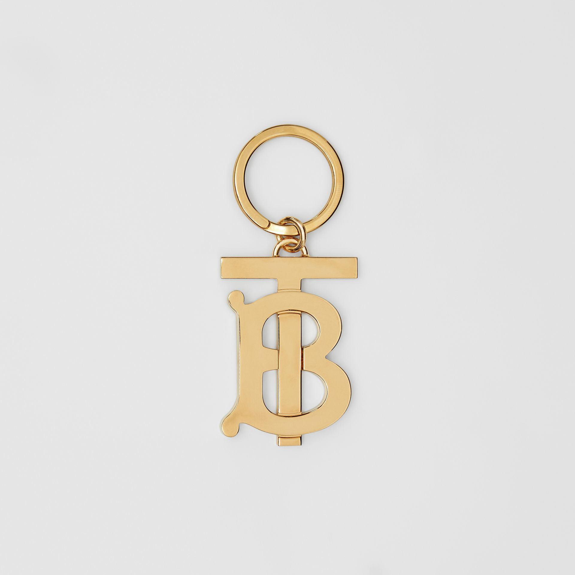 Monogram Motif Gold-plated Key Ring - Men | Burberry Hong Kong S.A.R - gallery image 0
