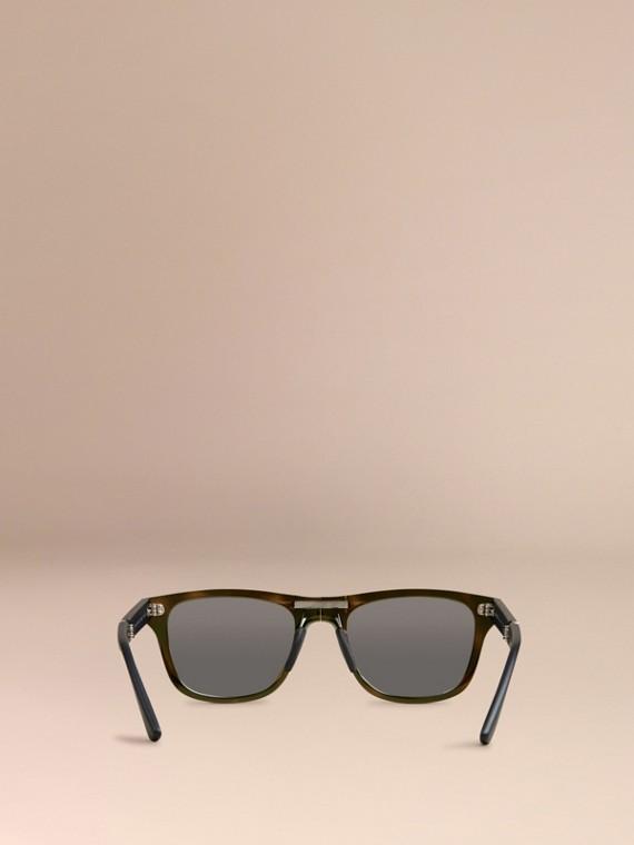 Grey Folding Rectangular Frame Polarised Sunglasses Grey - cell image 3