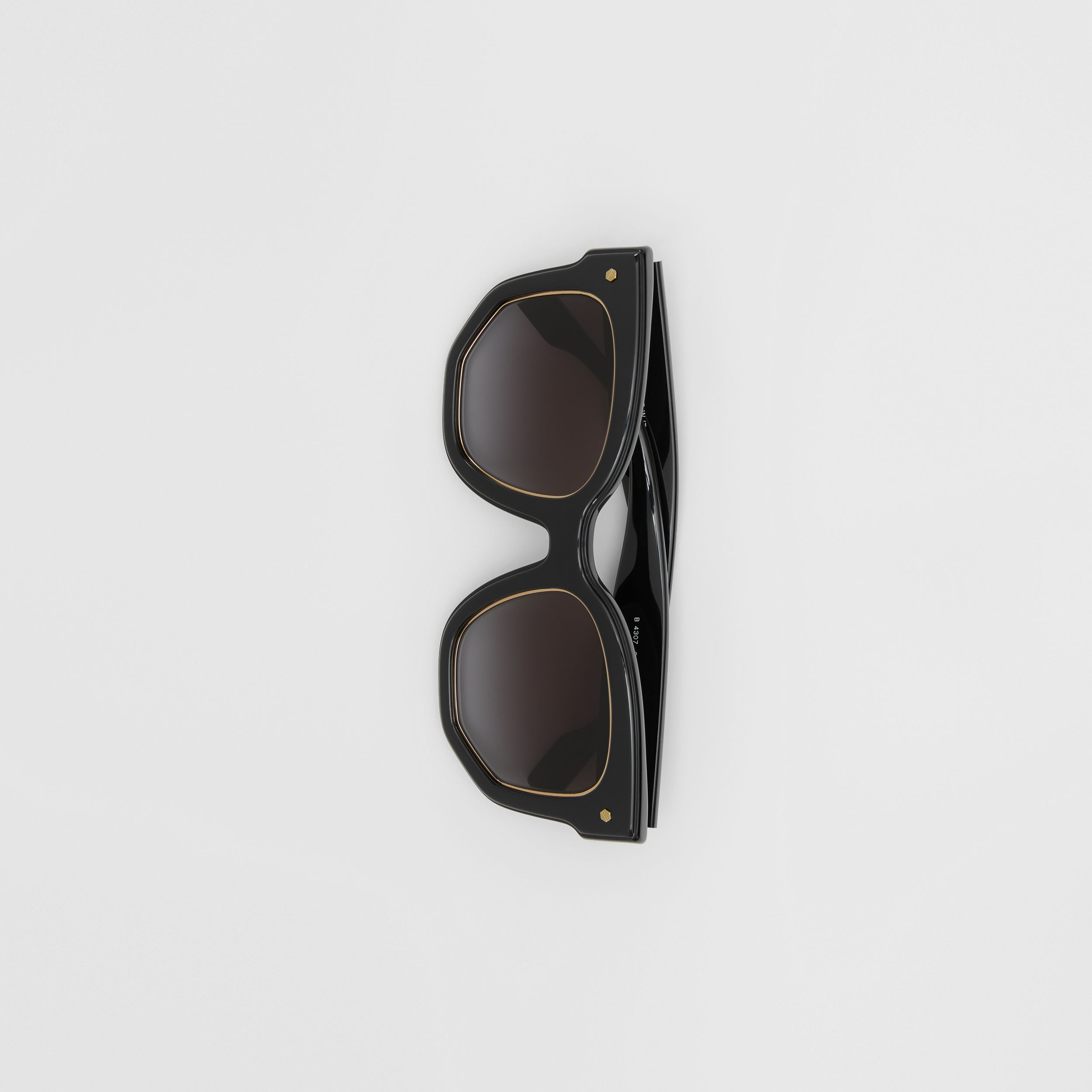 Geometric Frame Sunglasses in Black - Women | Burberry - 4
