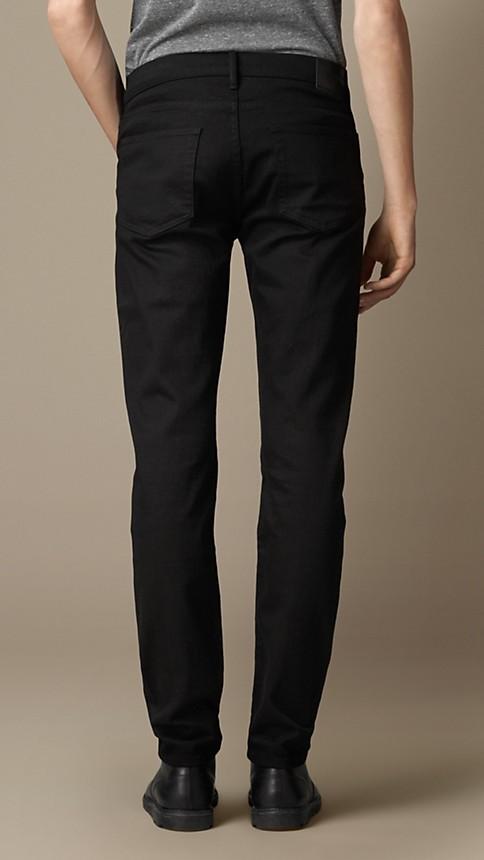 Black Slim Fit Deep Black Jeans - Image 2