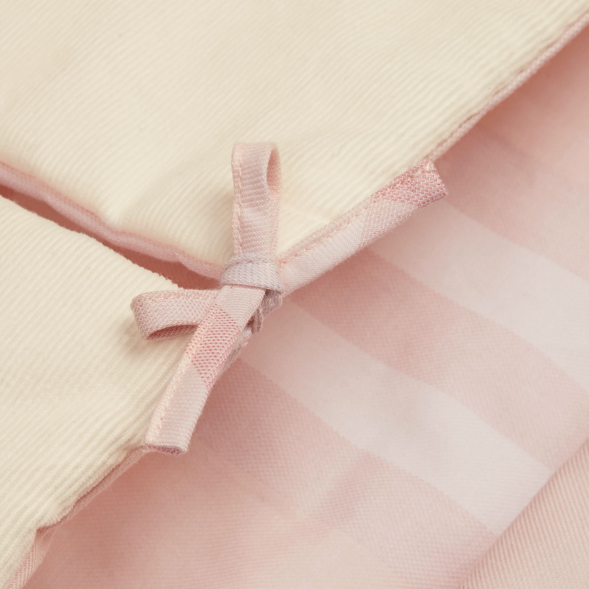 Check-Lined Baby Nest in Ice Pink | Burberry - gallery image 2