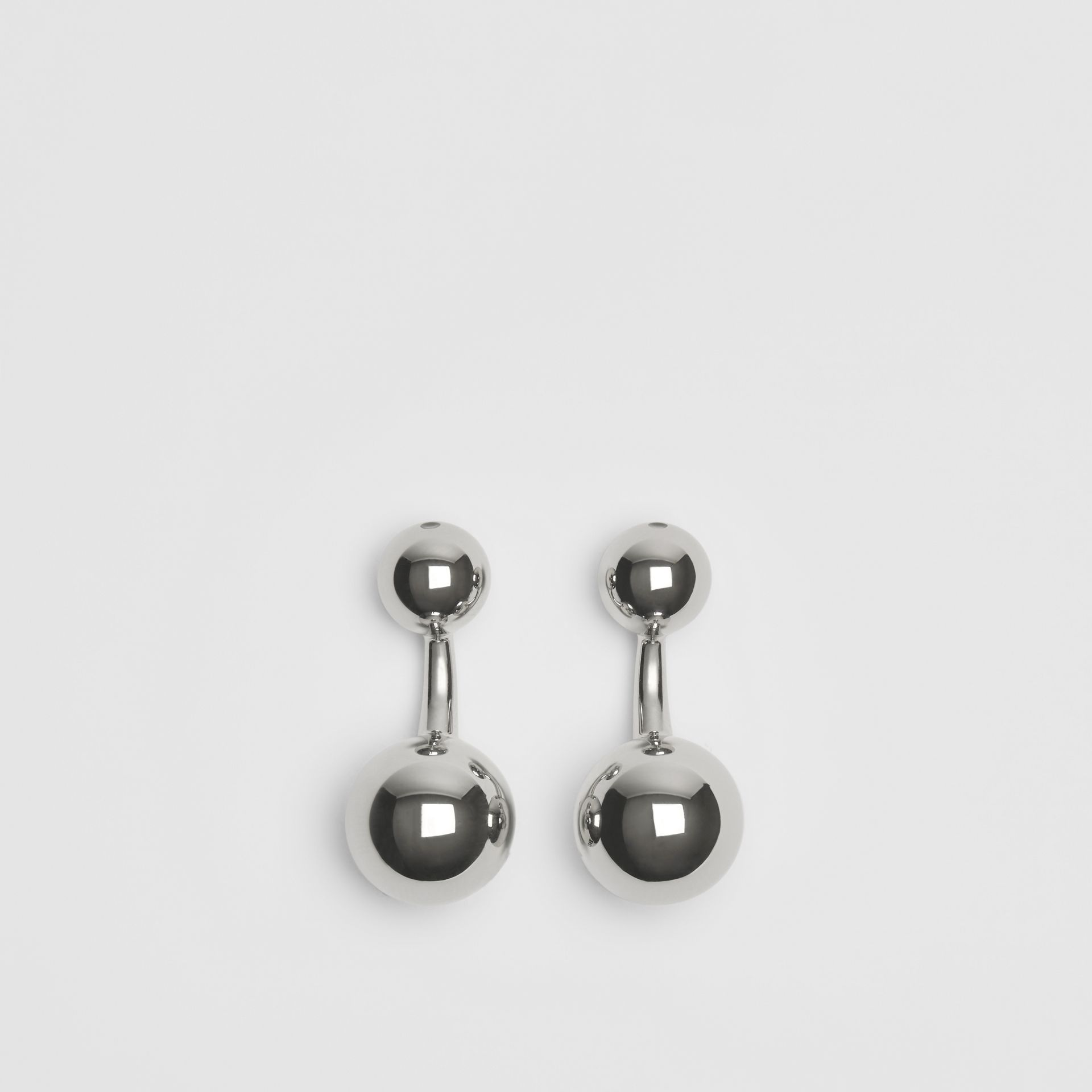 Engraved Brass Sphere Cufflinks in Silver - Men | Burberry United Kingdom - gallery image 2