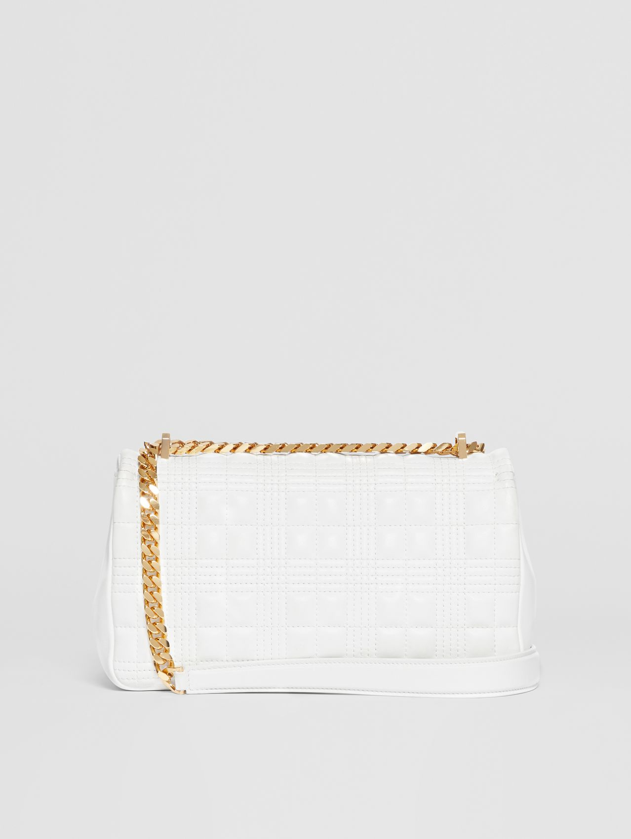 Small Quilted Lambskin Lola Bag in White