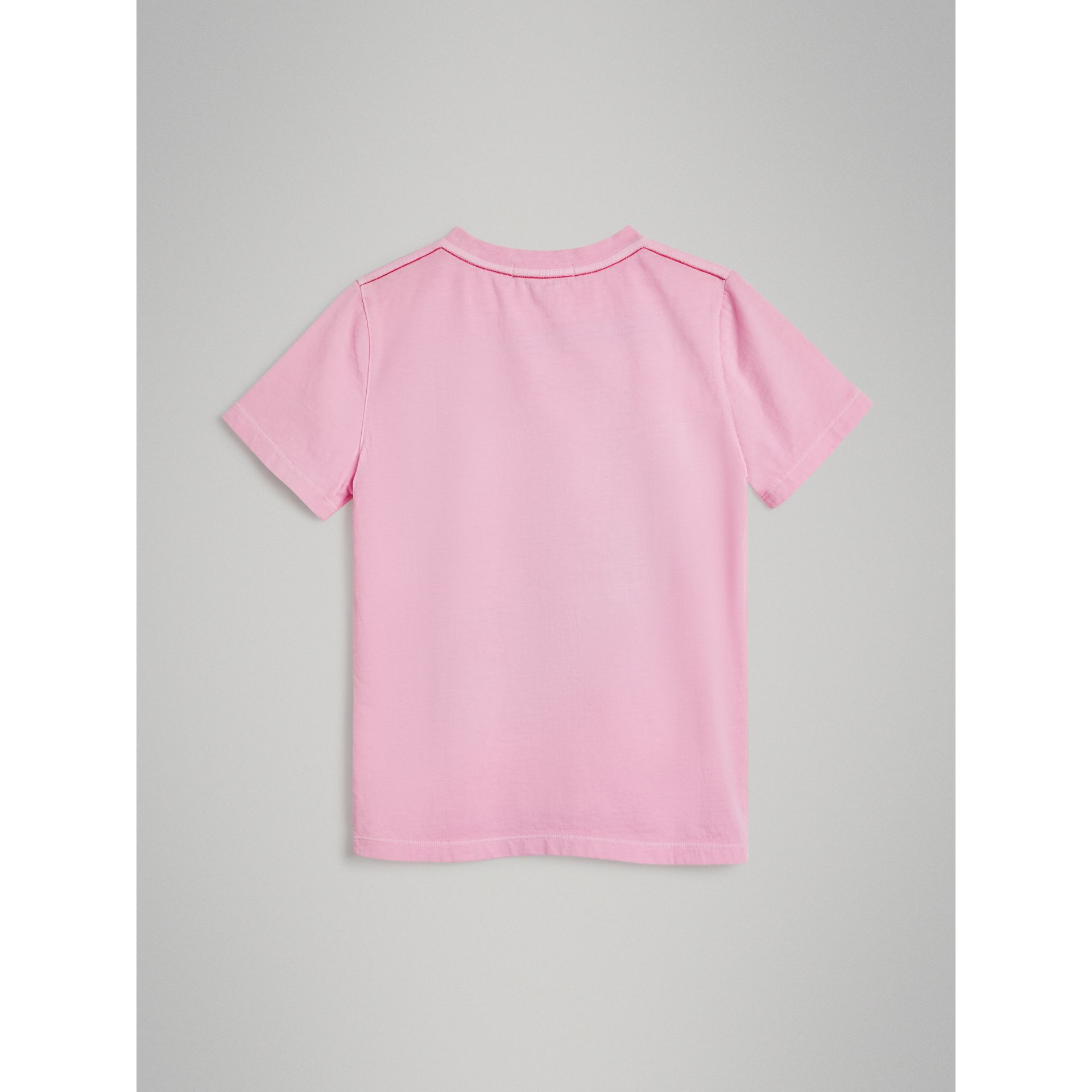 London Street Art Print Cotton T-shirt in Bright Pink - Girl | Burberry - gallery image 3