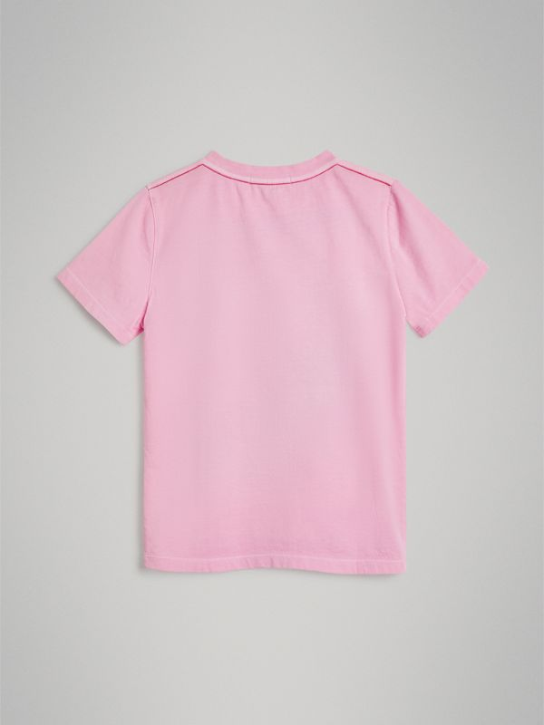 London Street Art Print Cotton T-shirt in Bright Pink | Burberry - cell image 3