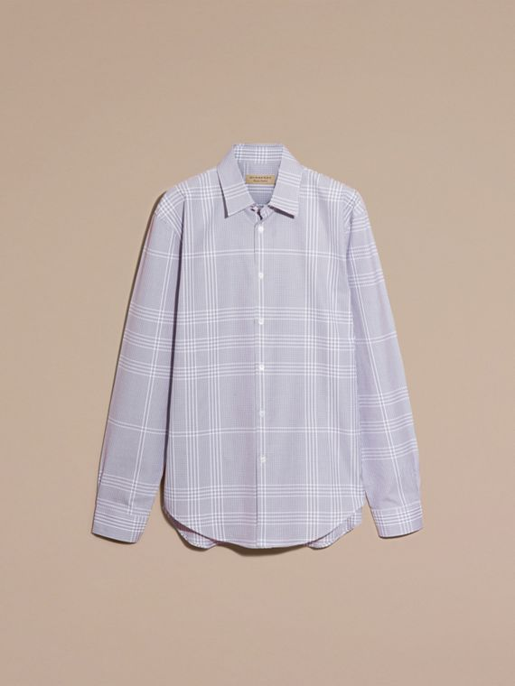 Heather Check Cotton Shirt Heather - cell image 3