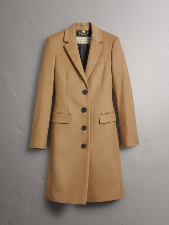 Wool Cashmere Tailored Coat in Camel - Women | Burberry Hong Kong - cell image 3