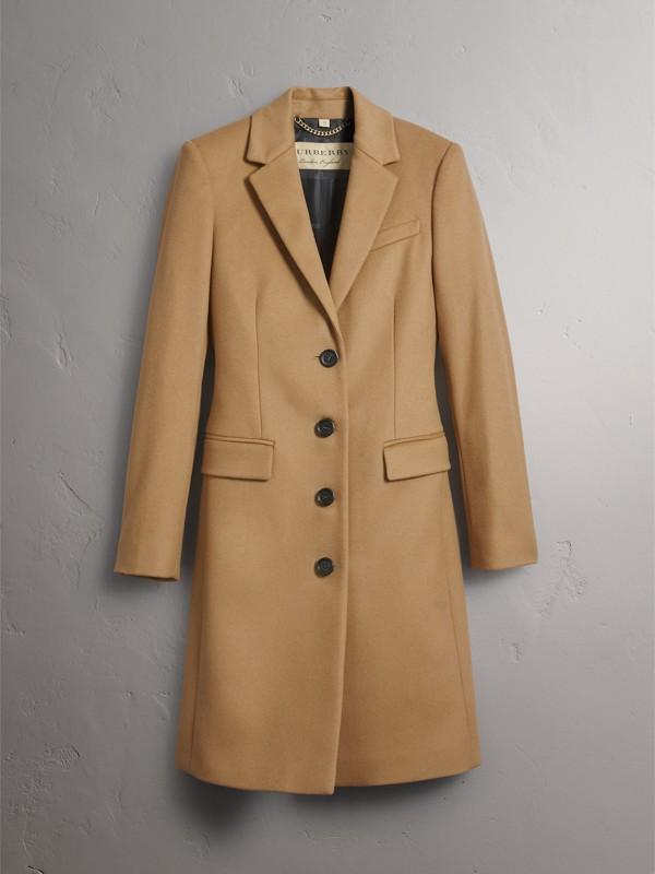 Casaco de alfaiataria de lã e cashmere (Camel) - Mulheres | Burberry - cell image 3