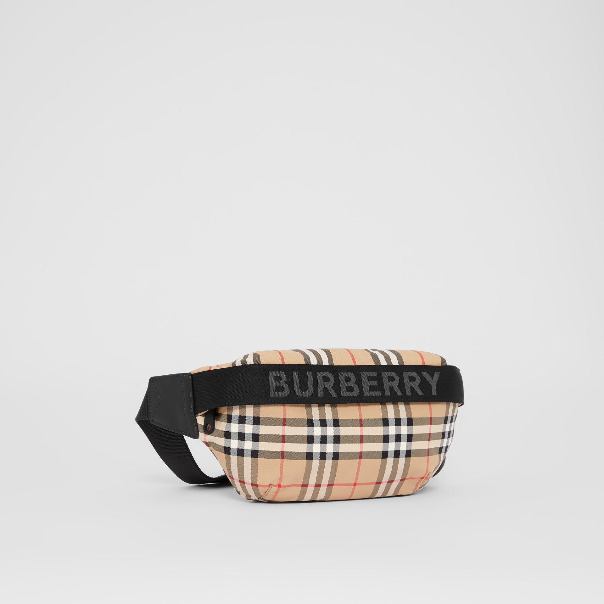 Medium Vintage Check and Icon Stripe Bum Bag in Archive Beige - Women | Burberry - gallery image 6