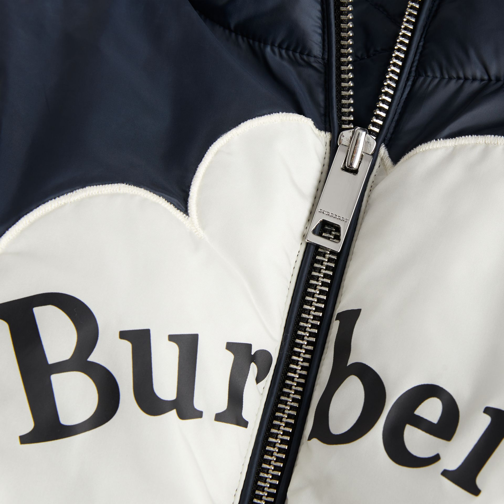 Rainbow Graphic Showerproof Down-filled Gilet in Midnight | Burberry United Kingdom - gallery image 4