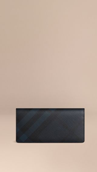 London Check Continental Wallet