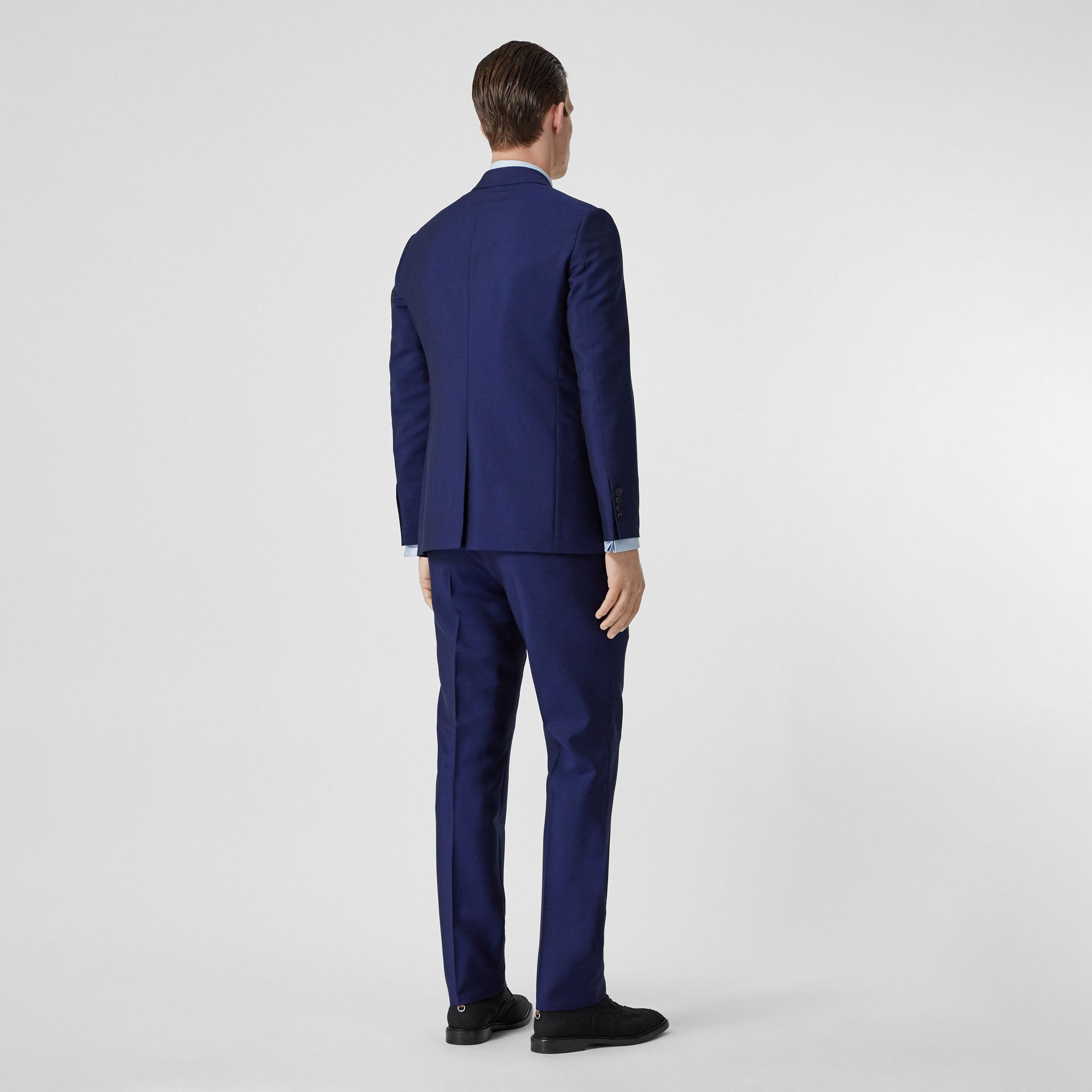 Slim Fit Wool Mohair Suit in Navy - Men | Burberry - gallery image 2