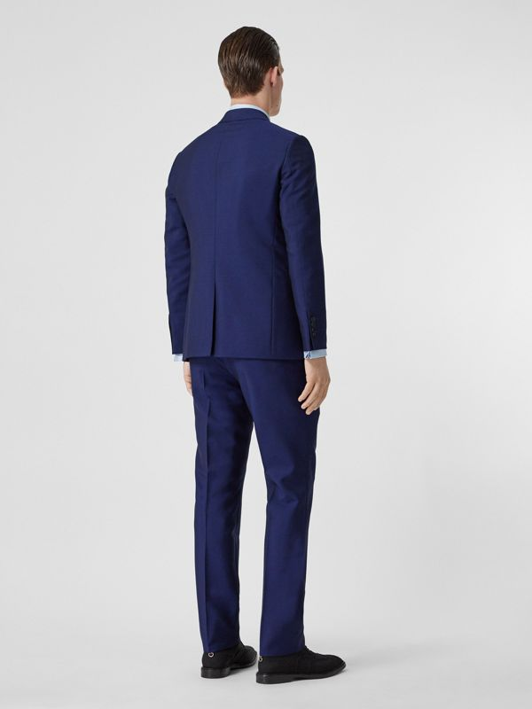 Slim Fit Wool Mohair Suit in Navy - Men | Burberry - cell image 2