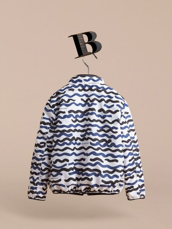 Wave Print Lightweight Jacket - cell image 3