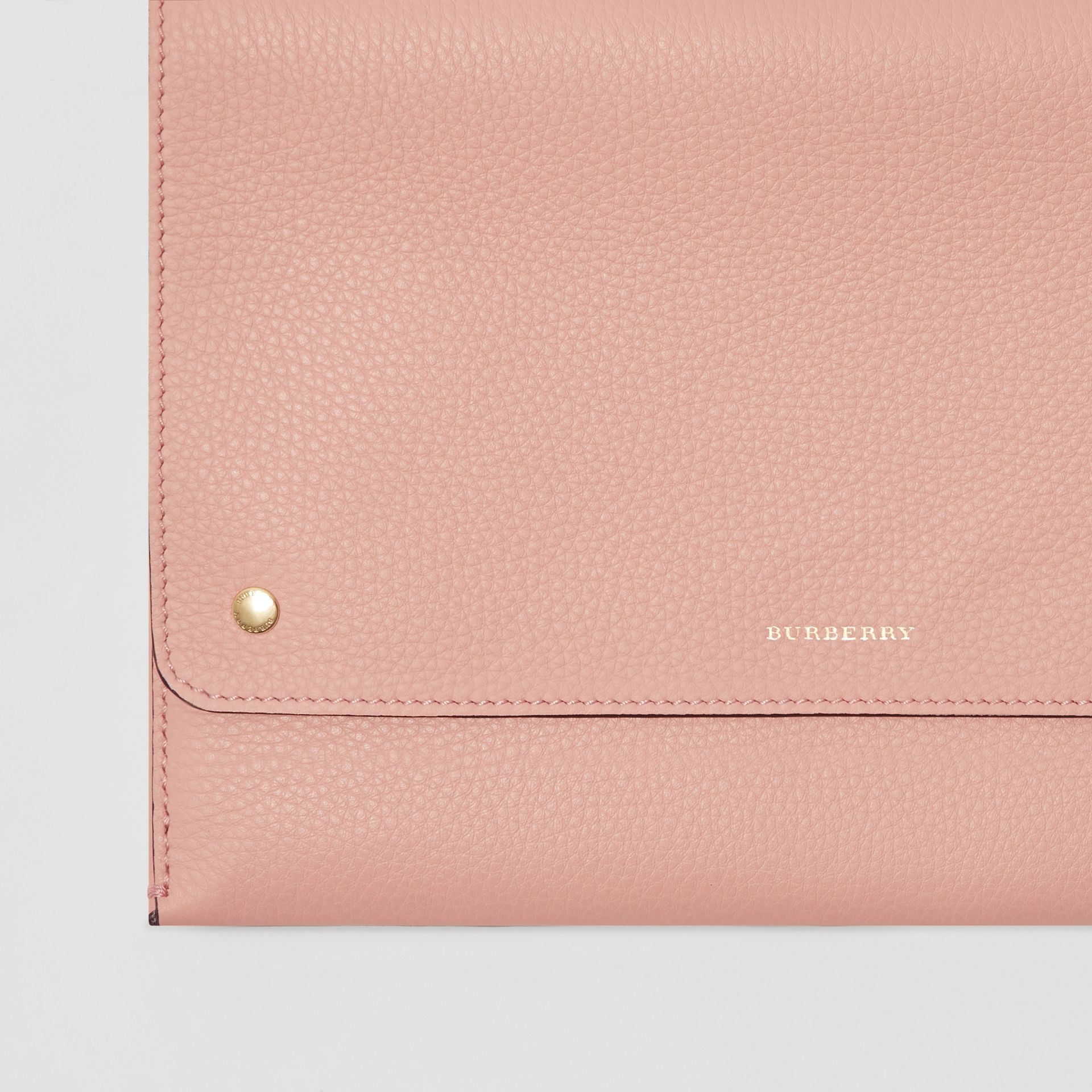 Leather Envelope Crossbody Bag in Ash Rose - Women | Burberry United States - gallery image 1