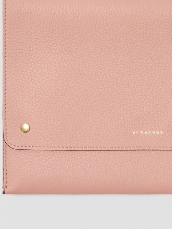 Leather Envelope Crossbody Bag in Ash Rose - Women | Burberry - cell image 1