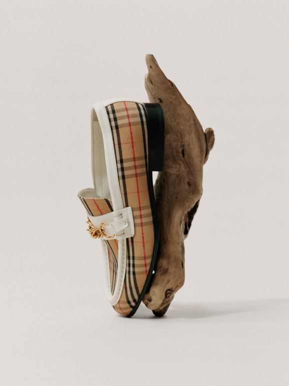 The 1983 Check Link Loafer in Off White - Women | Burberry Australia - cell image 1